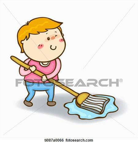 Mop the floor clipart.
