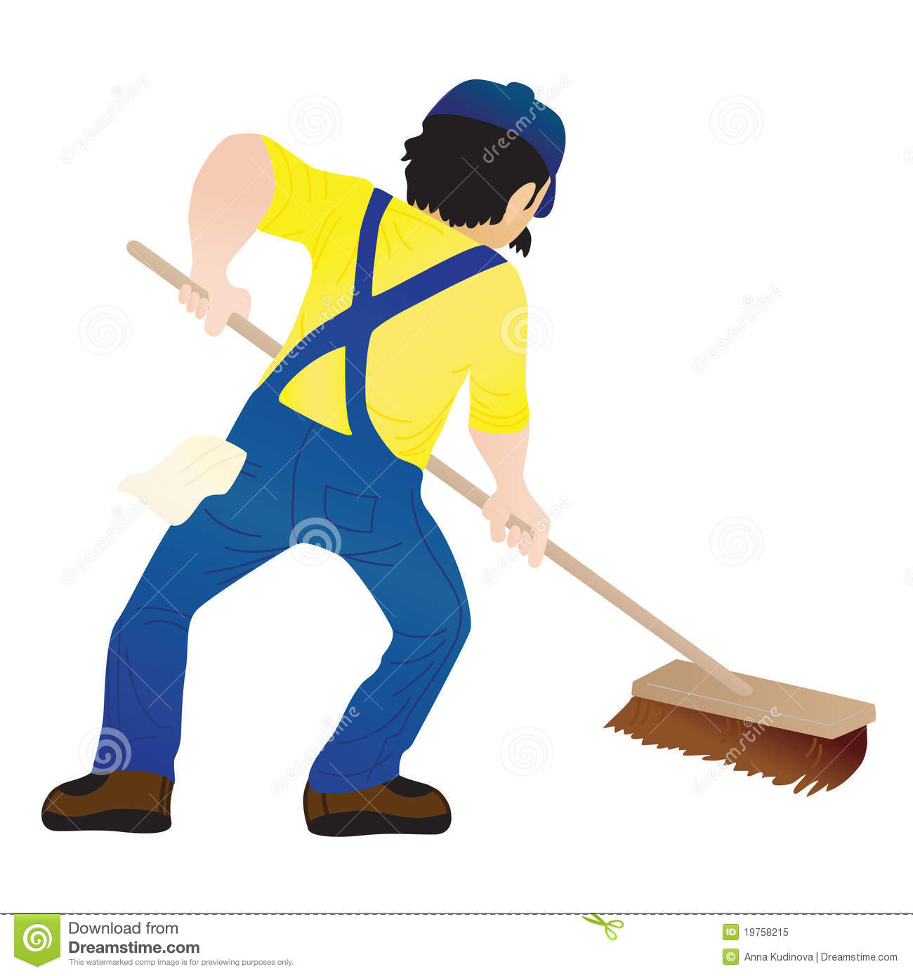 Mopping Stock Illustrations.