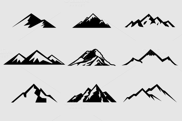 mountains clipart Mountain clip art #13.