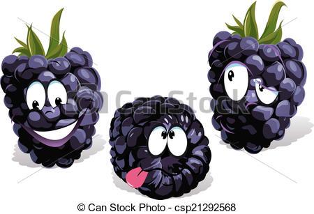 Clip Art Vector of blackberry cartoon with faces csp21292568.