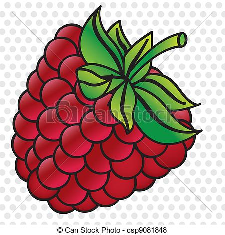 Vector of cartoon blackberry on white background with gray dots.
