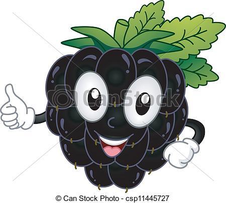 Ilustraciones de Vectores de mora, mascota.
