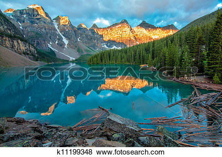 Pictures of Moraine Lake Yellow Mountain Landscape k11199348.
