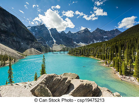 Stock Photography of Moraine Lake, Banff National Park csp19475213.
