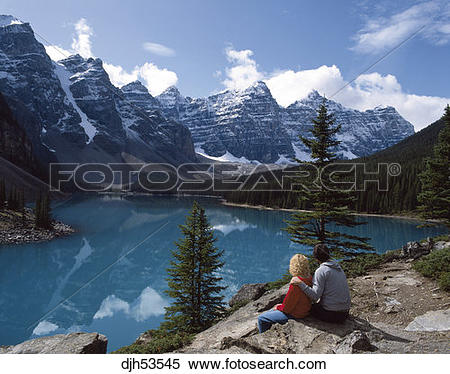 Stock Image of Canada,Rocky Mountains,Banff National Park,Moraine.