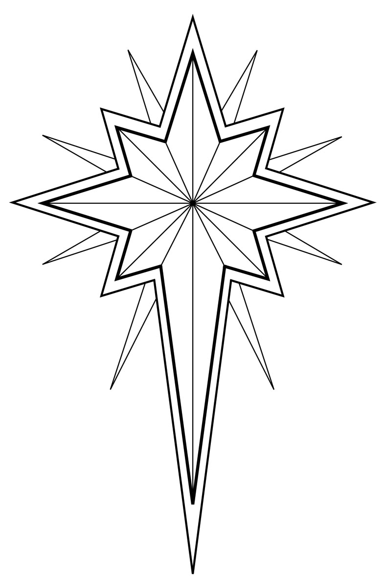 Night With Christmas Star Clipart.