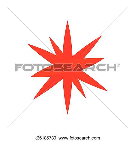 Clip Art of Moravian star star icon, cartoon style k36185739.