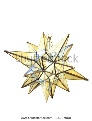 Moravian Star Stock Photos, Royalty.