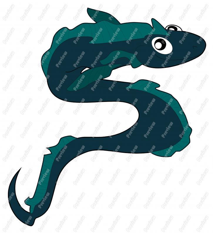 Moray Eel Clip Art.