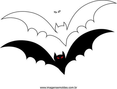 20 moldes de morcego para Halloween.