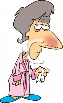 Sick Sick Woman Clipart.