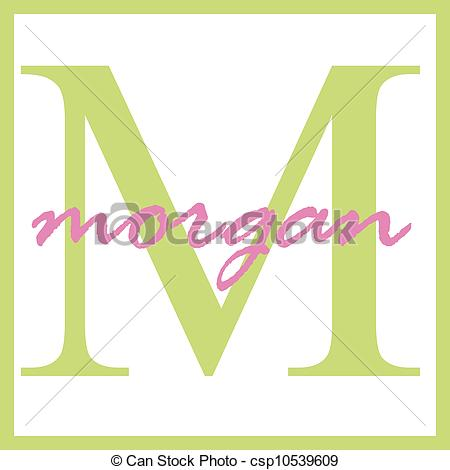 Stock Illustration of Morgan Name Monogram.