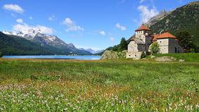Castle Moritz Burg Stock Photo.
