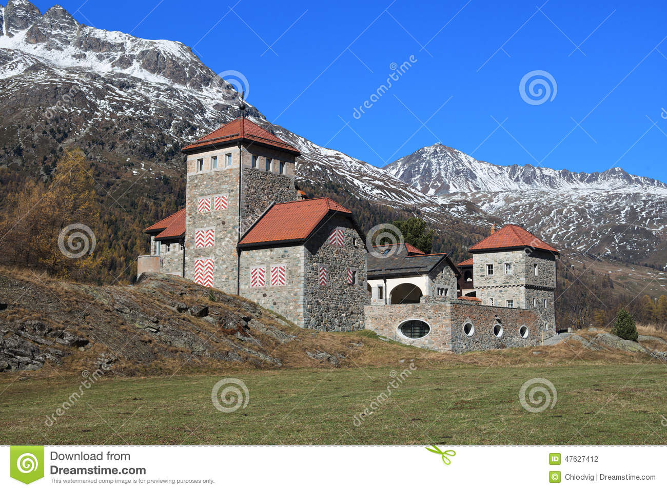Castle Moritz Burg Stock Photo.