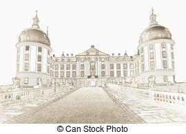 Moritzburg Clipart und Stock Illustrationen. 3 Moritzburg Vektor.