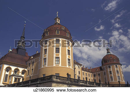 Stock Image of castle, Moritzburg, Dresden, Germany, Saxony.