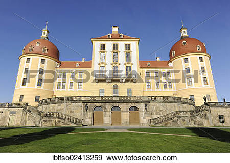 Stock Photograph of Schloss Moritzburg Castle, Saxony, Germany.