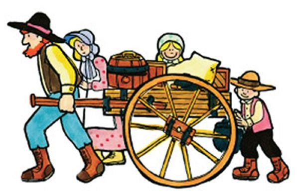Mormon Pioneer Handcarts Clipart.
