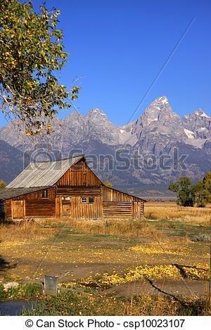 Stock Photography of Mormon barn.