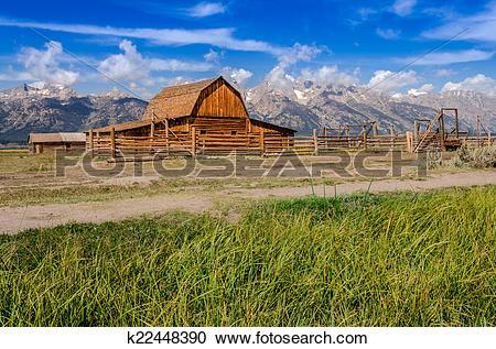 Stock Photography of Abandoned barn on Mormon Row in Grand Teton.
