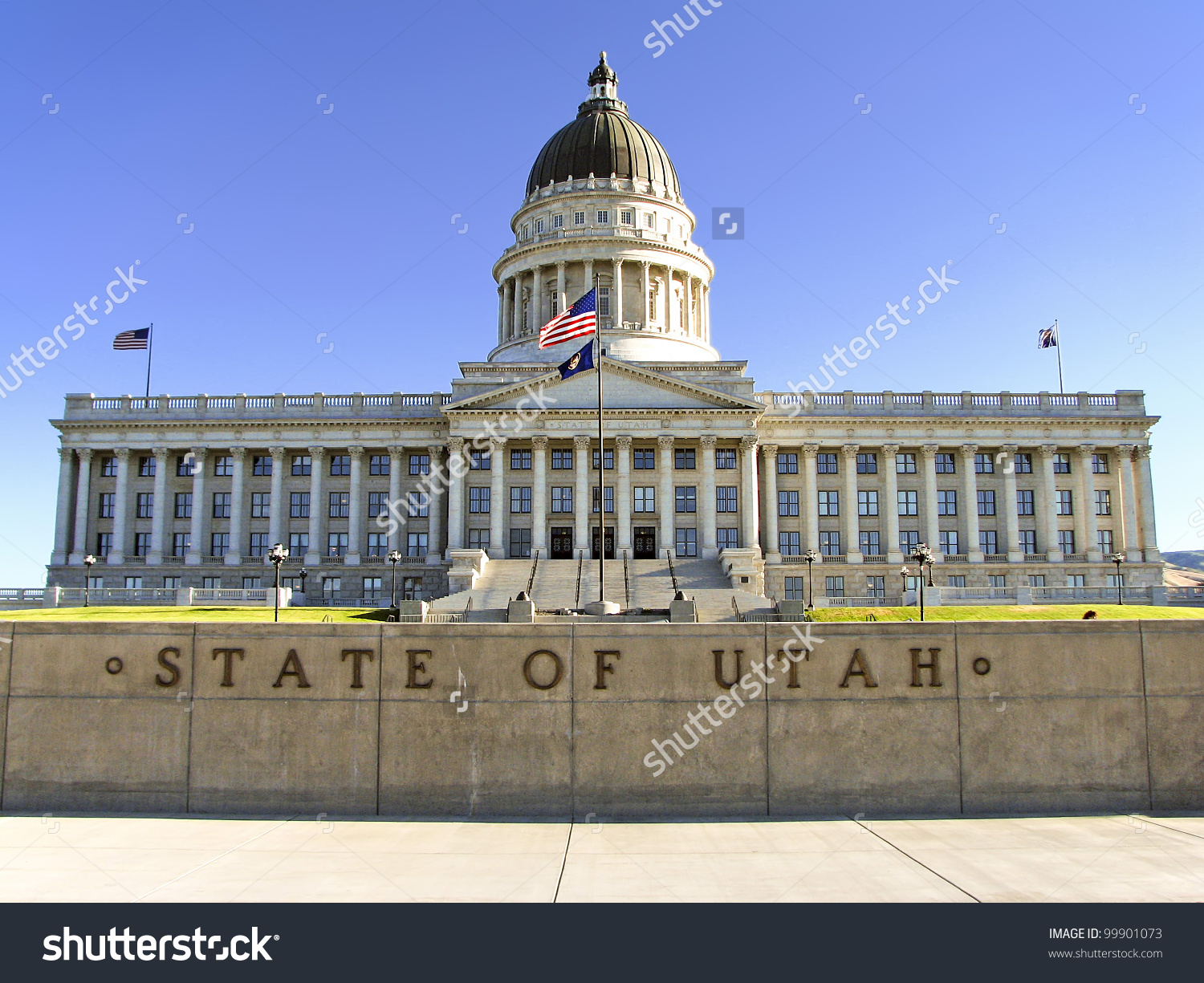 State Capitol Building Salt Lake City Stock Foto 99901073.