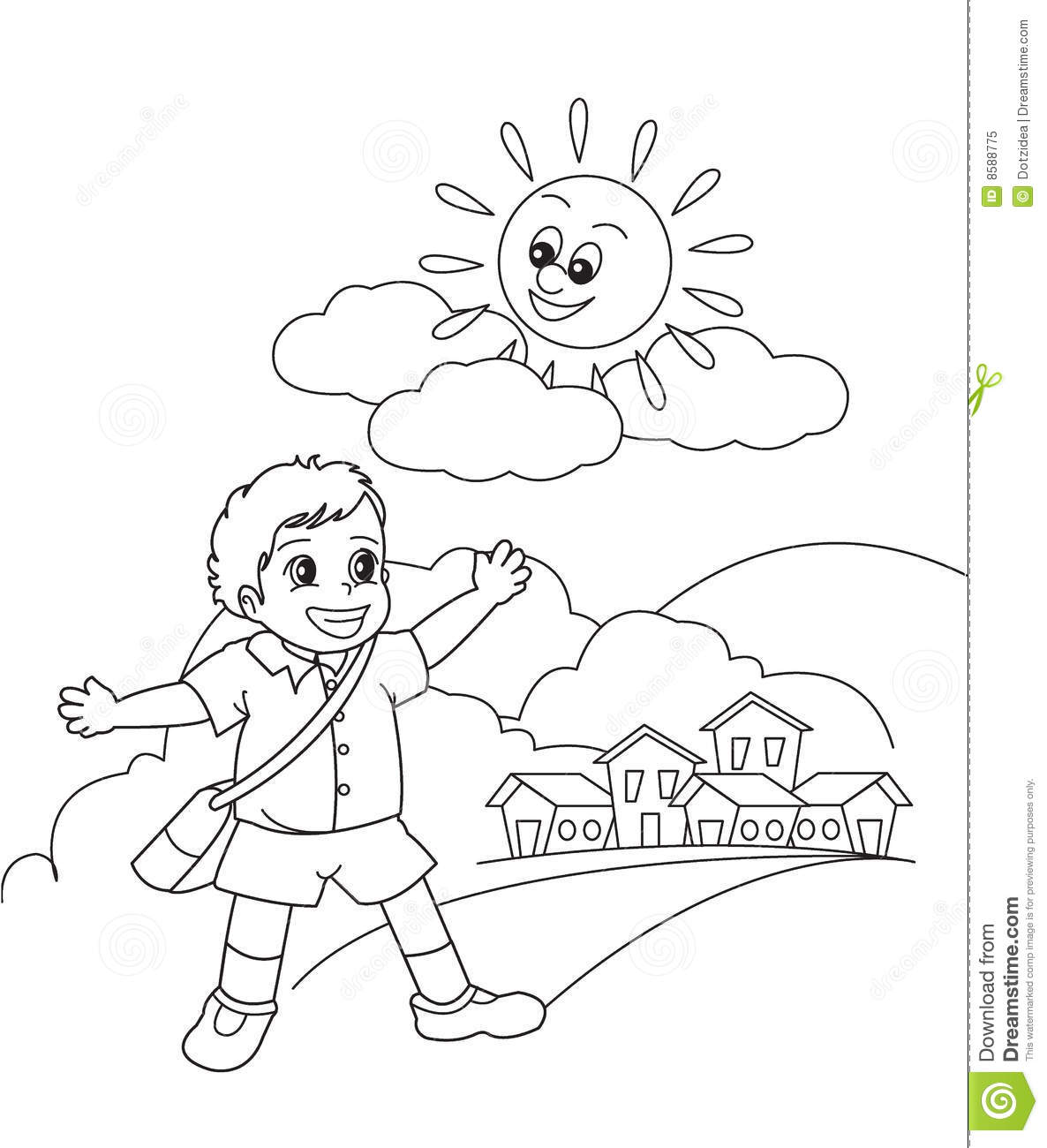 Morning Sun Clipart Black And White.