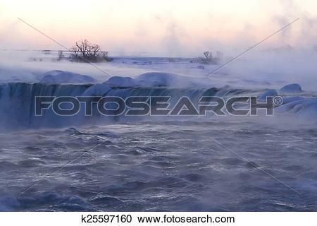 Stock Photography of Horseshoe falls at Niagara Falls, Ontario.