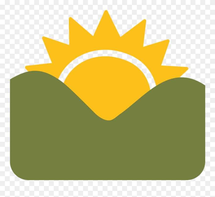 Sunrise Over Mountains Emoji Clipart Emoji Sunrise.