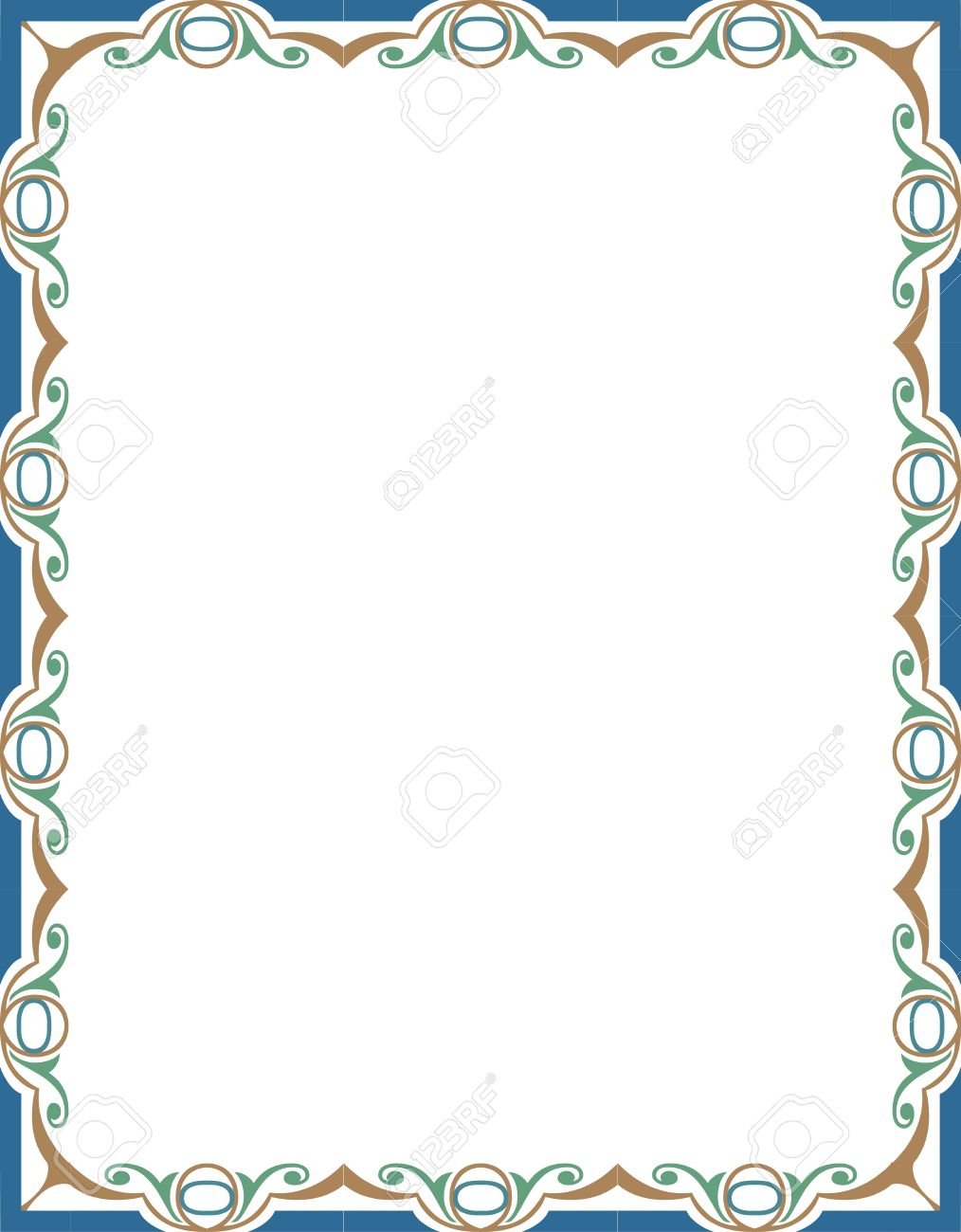 Moroccan Frame Clipart.