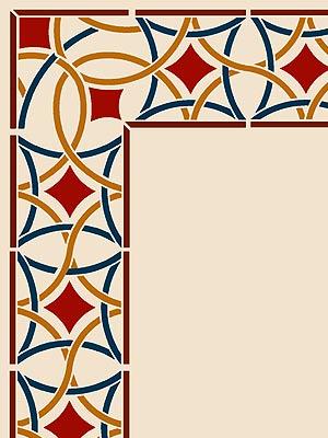 Moroccan Stencils Moroccan Border Stencil Moroccan Filigree.