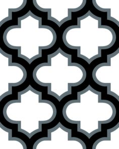 Moroccan Lattice Tile Black White Clip Art at Clker.com.