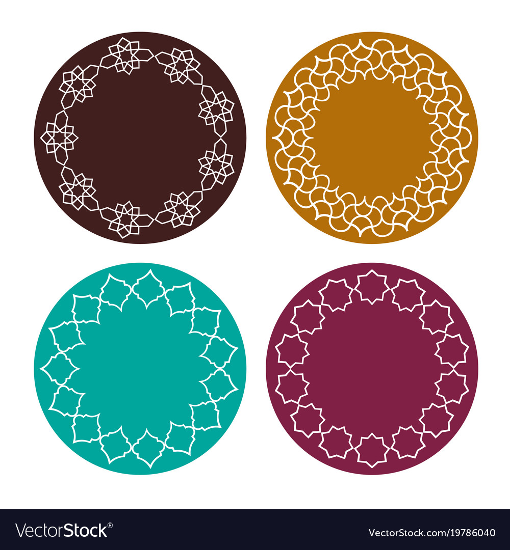 Moroccan colorful frames clipart.