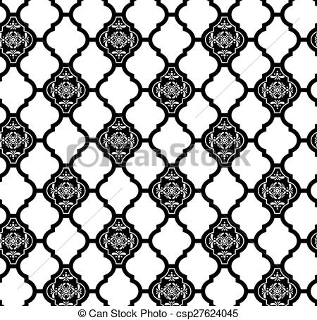 EPS Vector of moroccan wallpaper pattern.