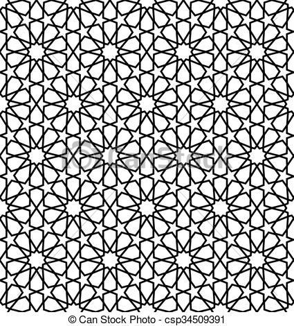 EPS Vectors of moroccan zellige seamless.