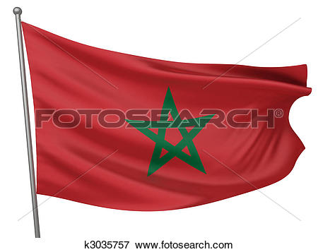 Stock Illustration of Morocco National Flag k3035757.