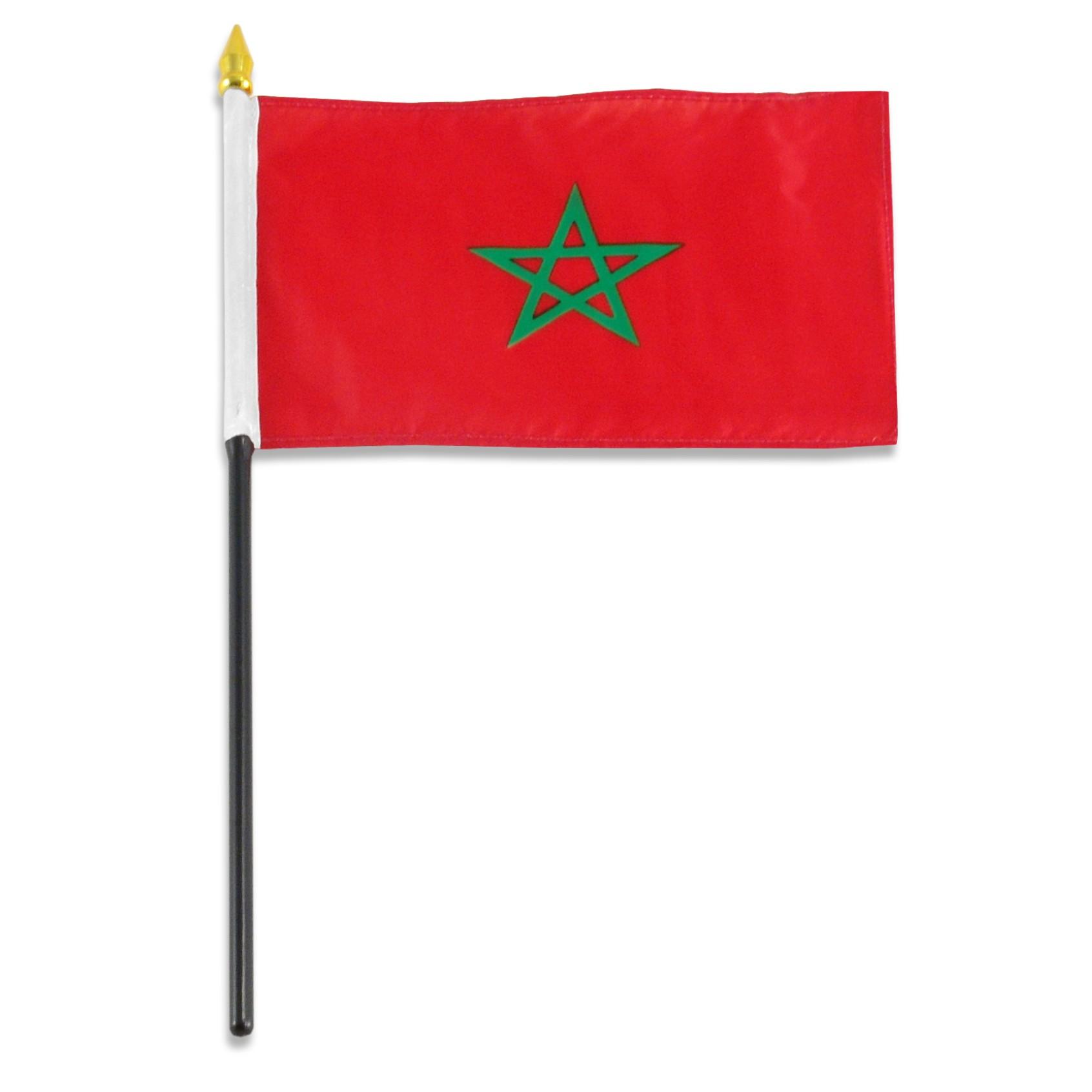 Morocco Flag 4 x 6 inch.