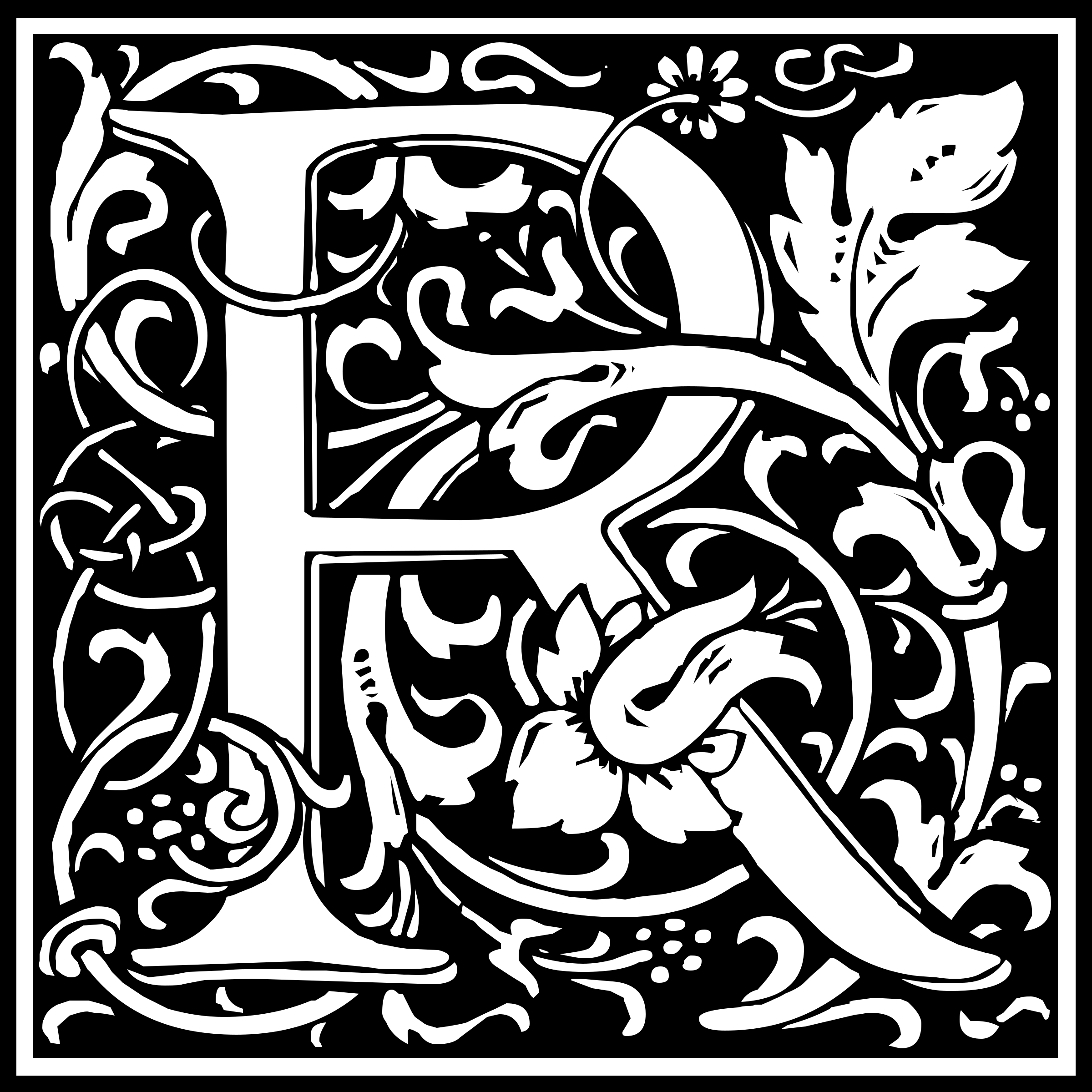 William Morris Vine Clipart.
