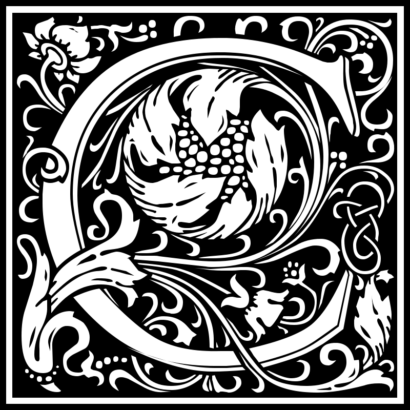 Free Clipart: William Morris Letter C.