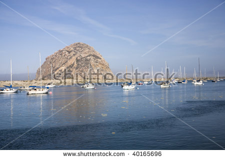 Morro Bay Rock Stock Photos, Royalty.