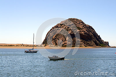 Morro Rock At Morro Bay, California Royalty Free Stock Image.