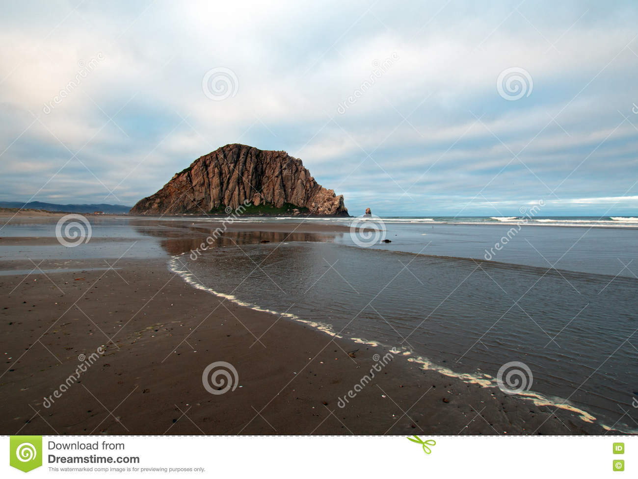 Morro Rock At Morro Bay Stock Photo.
