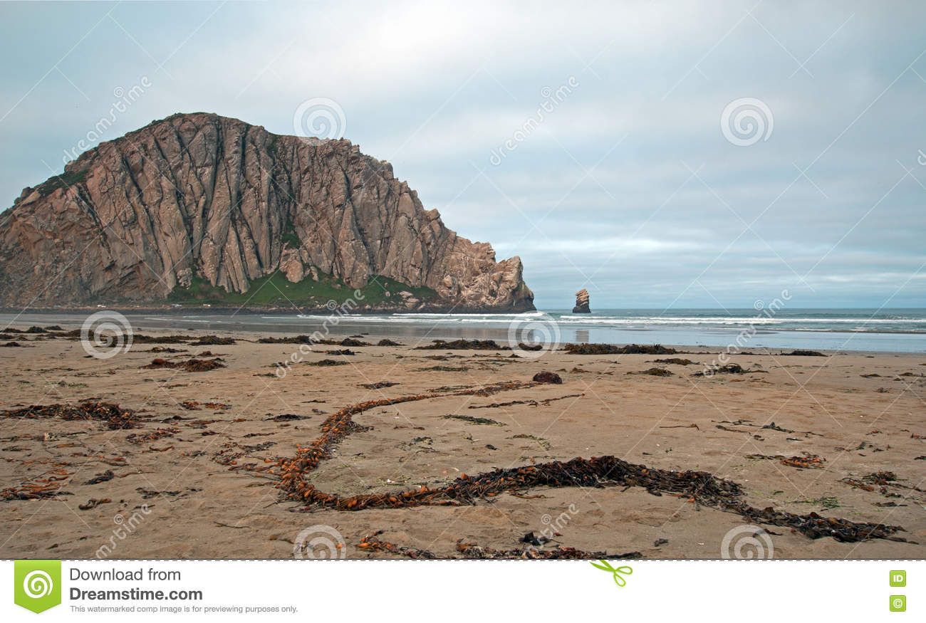 Morro Rock, Central Coast, California Royalty Free Stock Photos.