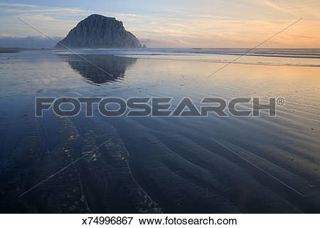 Picture of Morro Rock , Morro Bay State Park , California.
