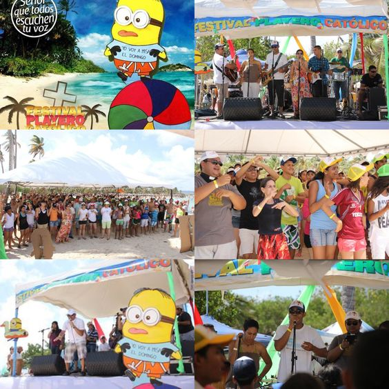 Festival Playero Catolico 29 de agosto Parque Nacional Morrocoy.