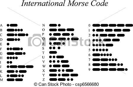 Vector Clipart of International Morse Code csp6566680.