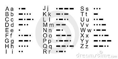 Morse Code, Alphabet Stock Vector.