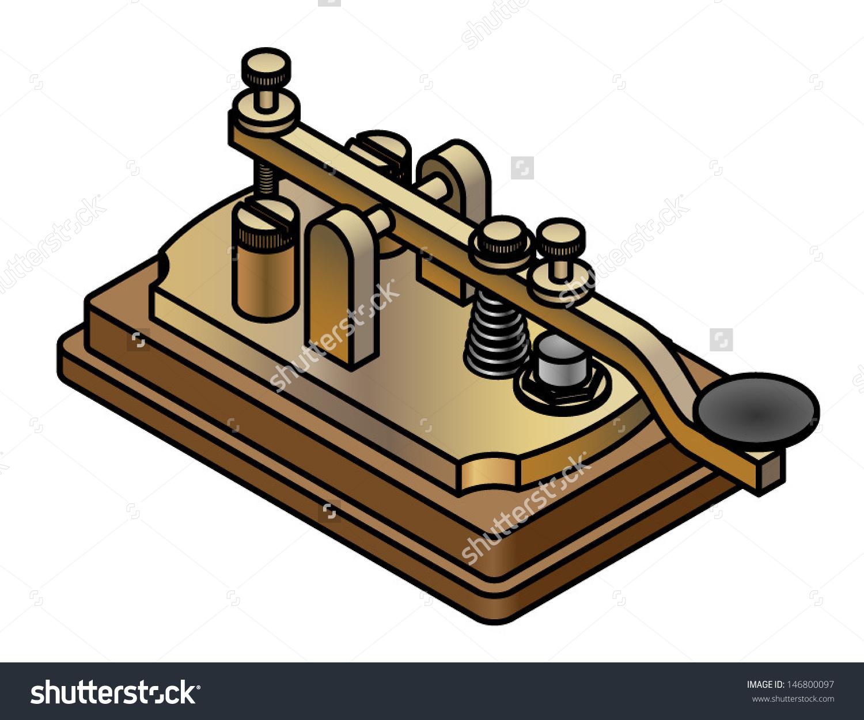 Vintage Retro Brass Morse Code Tapper Stock Vector 146800097.