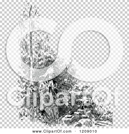 Clipart of a Vintage Black and White Jester Giving Thanks for a.