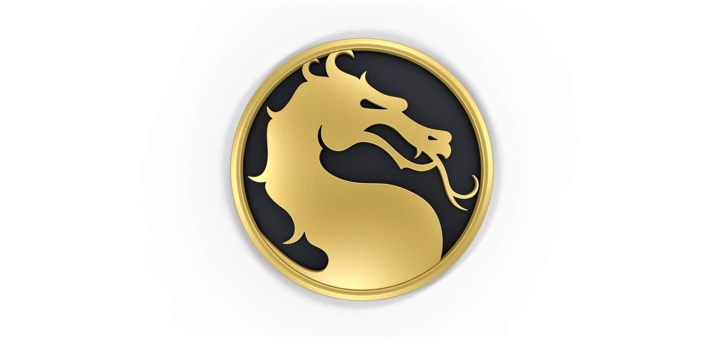 Mortal Kombat Logo Print Ready 3D Model.