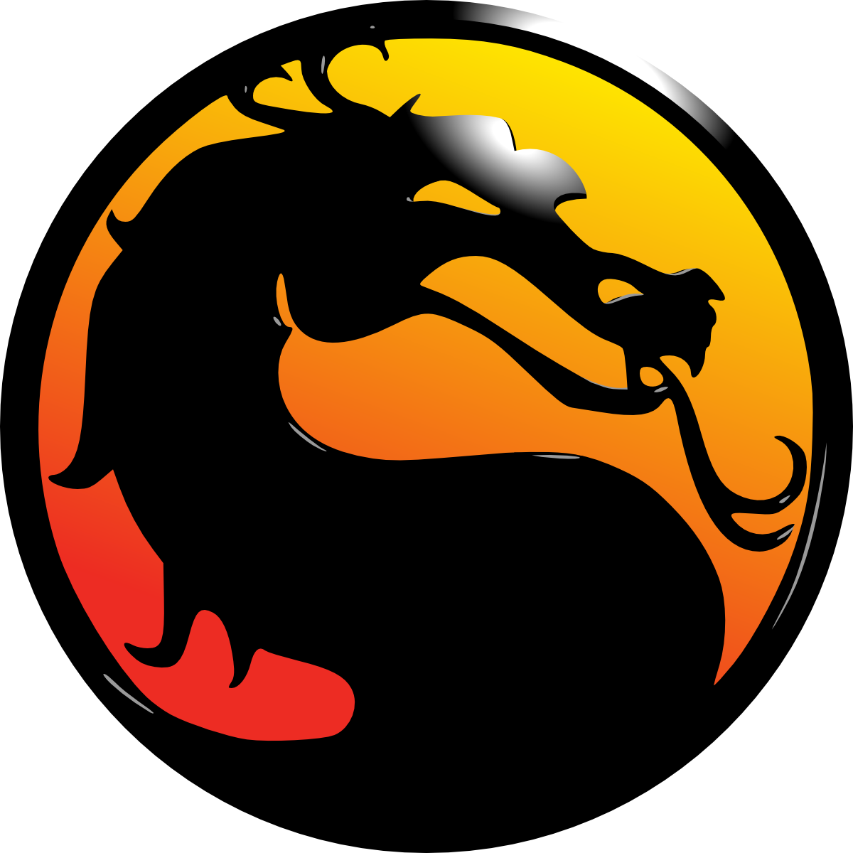 Mortal kombat logo.